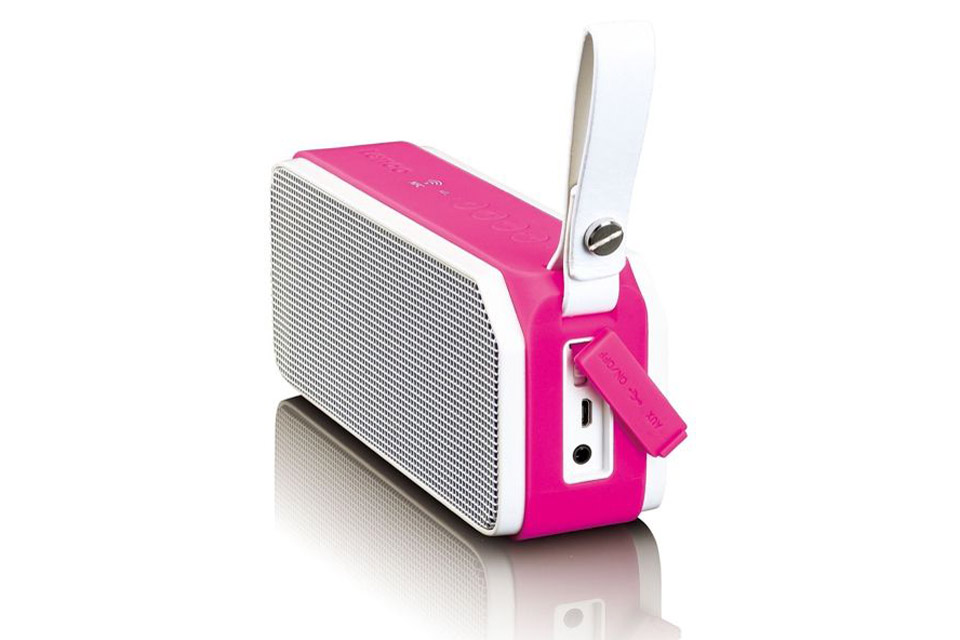 Lenco BT-191 Bluetooth speaker with lights -  Pink side