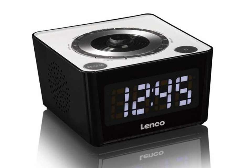 Lenco CR-16 FM clockradio with projector - White side