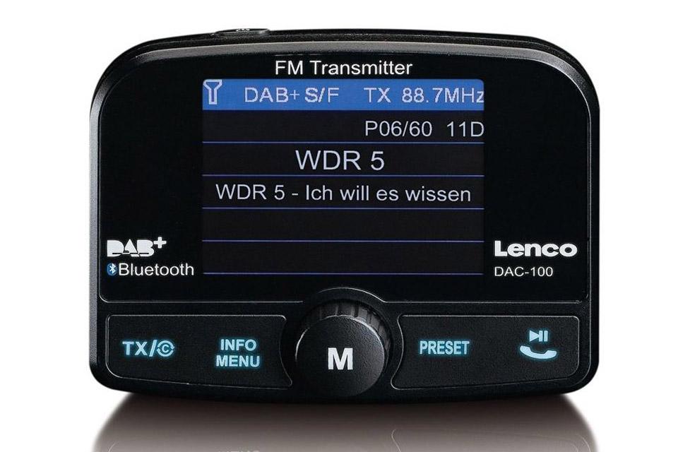 Lenco DAC-100 DAB+ Biladapter med Bluetooth - Front