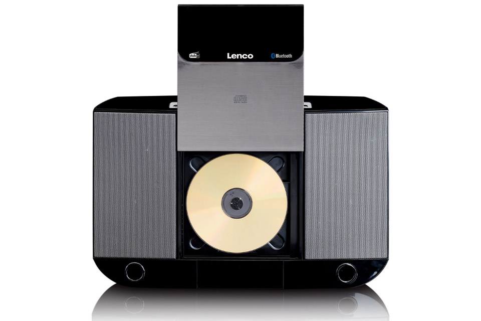 Lenco DAR-045 CD, FM and DAB+ radio - Front open