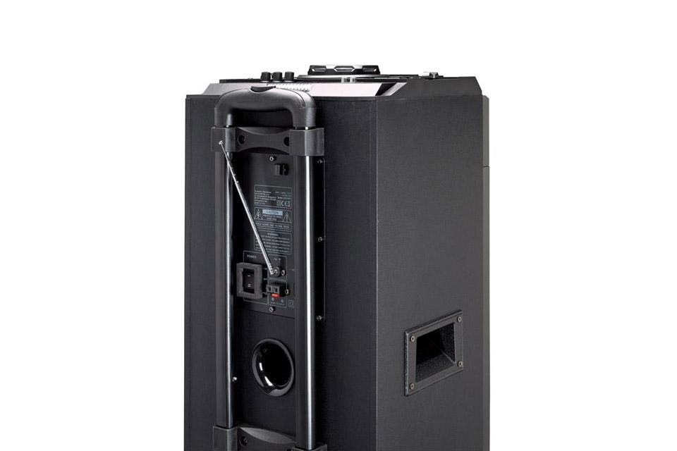 Lenco PMX-300 portable speaker with battery -  Back