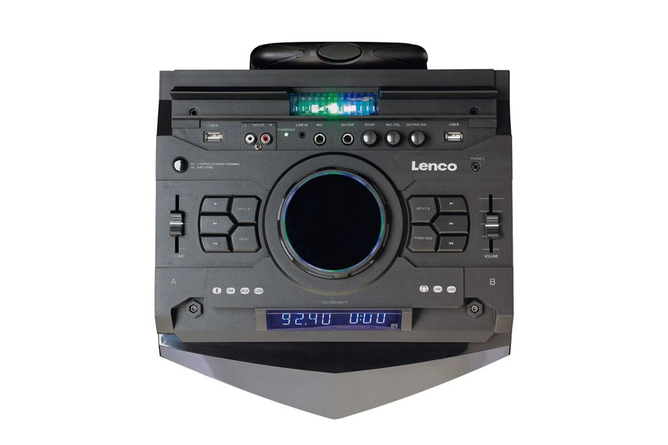 Lenco PMX-300 portable speaker with battery -  Top