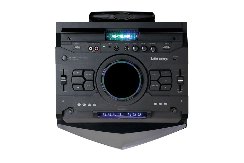Lenco PMX-240 portable speaker with battery - Top