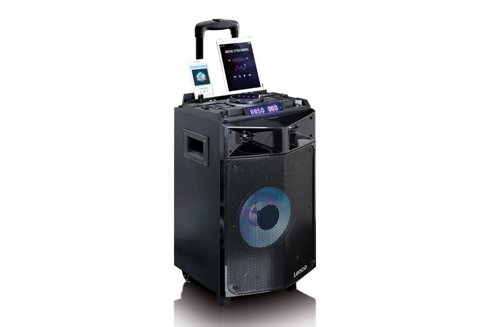 Lenco PMX-240 portable speaker with battery - Front side