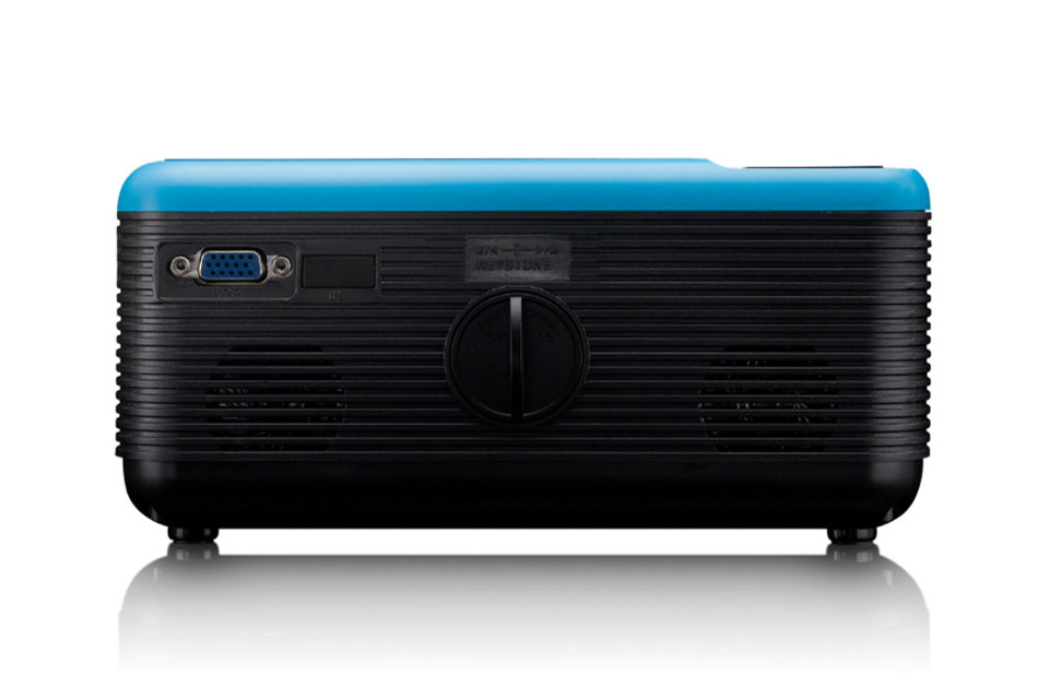 Lenco LPJ-500 projector with DVD player - Side