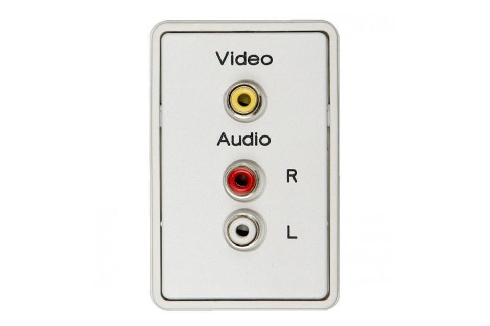 AV vægdåse til FUGA, Composite Video + Stereo audio