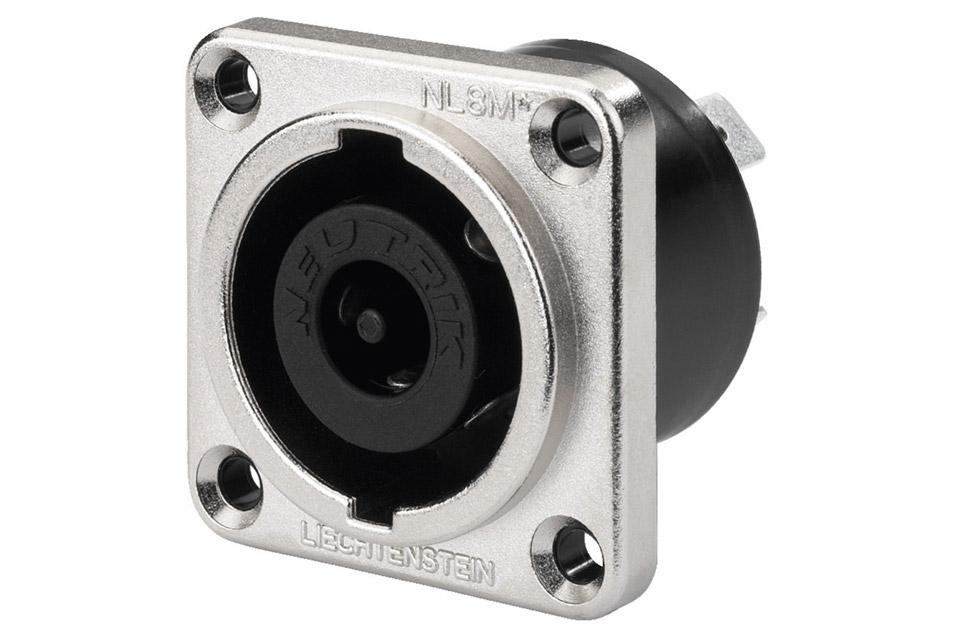 NLT-8MP Speakon speaker chassis socket(IP54), 8-pins male