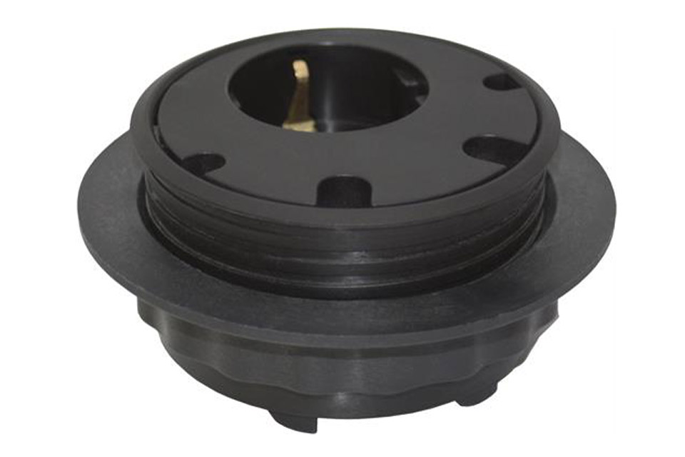 Powerdot PD10 socket for desktop with guide holes - Black