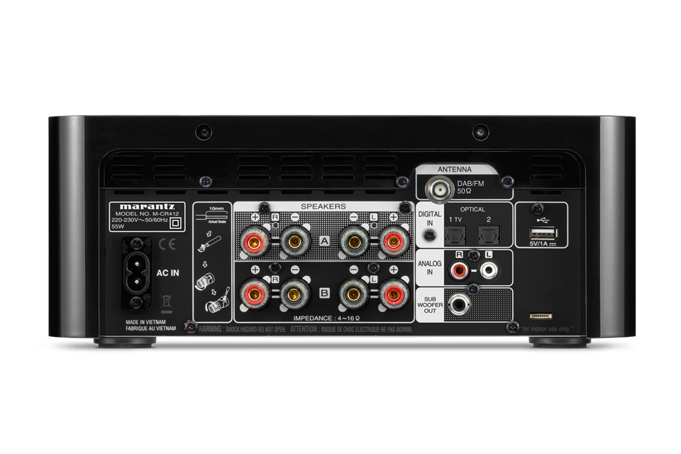Marantz Melody M-CR412 receiver, rear