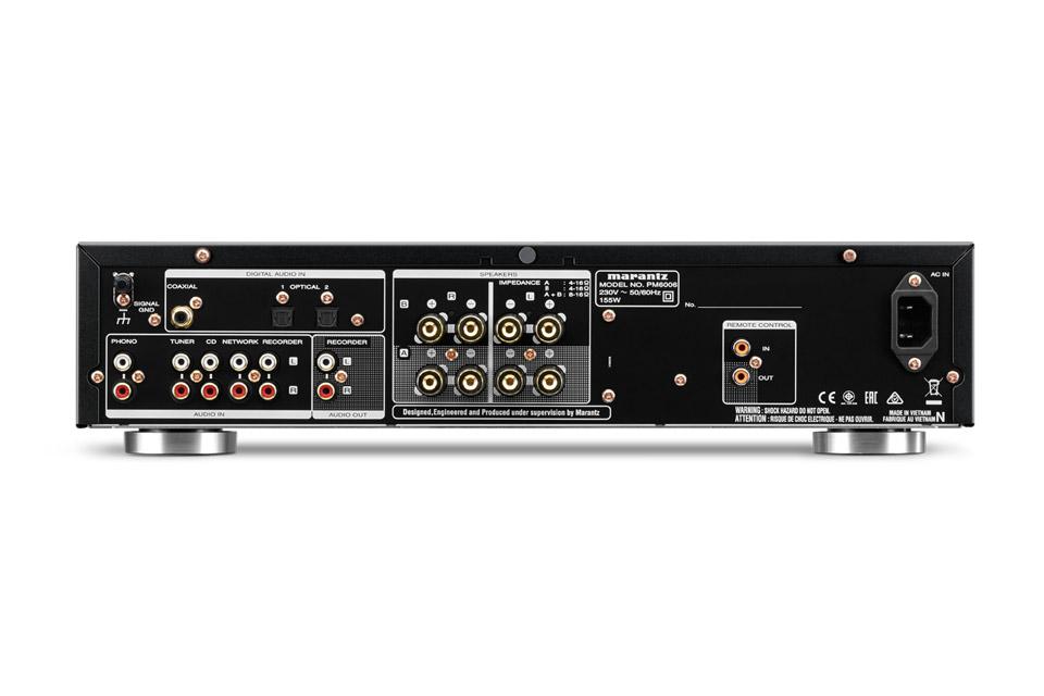 Marantz PM6006 stereo amplifier, rear