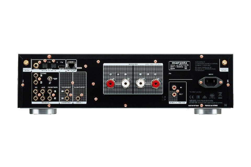 Marantz PM7000N stereo amplifier, rear