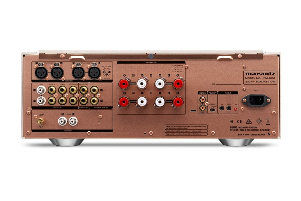 Marantz PM10S1 stereo amplifier, rear