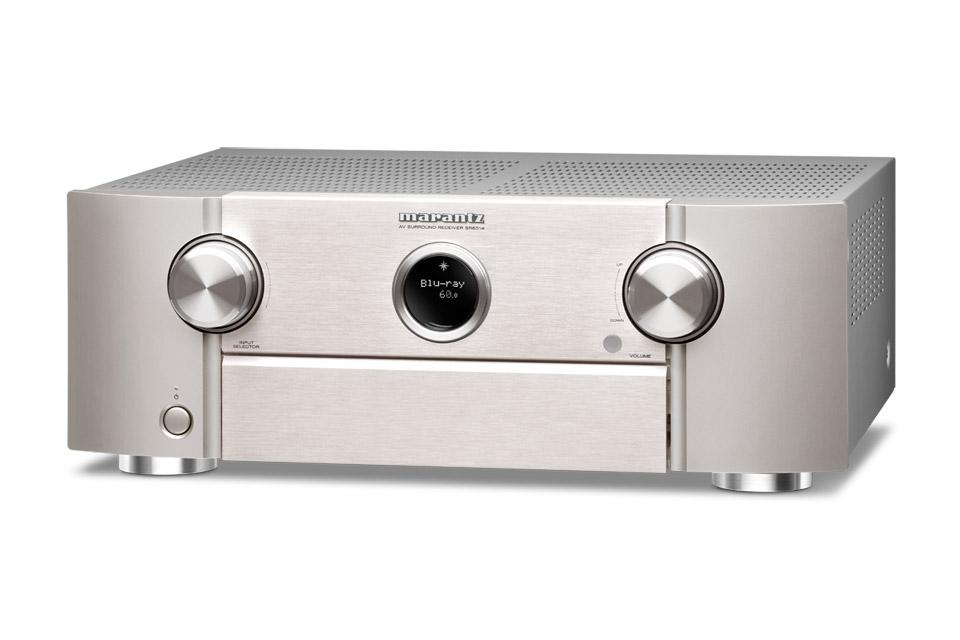 Marantz SR6014 surround receiver, silver