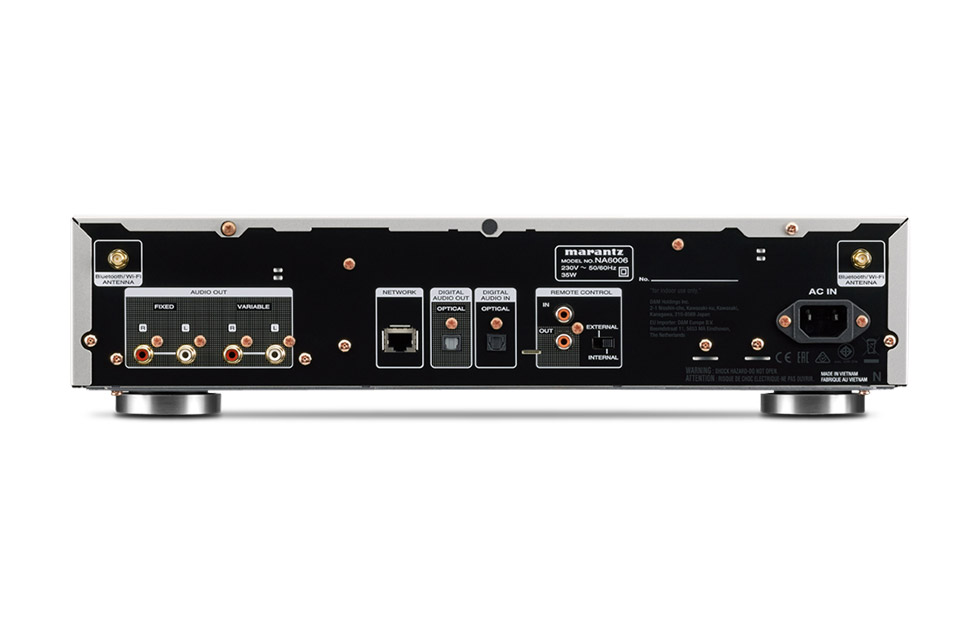 Marantz NA6006 network player, rear