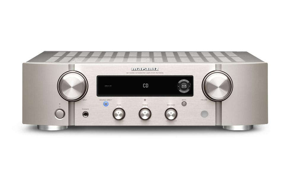 Marantz PM7000N stereo amplifier, silver