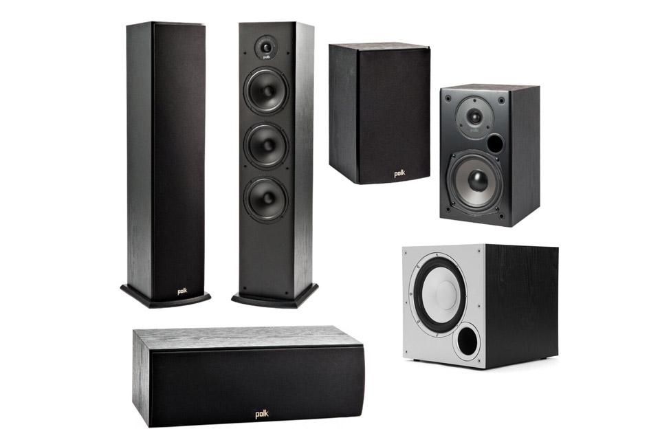 Polk Audio T-series surround speaker system - 5.1