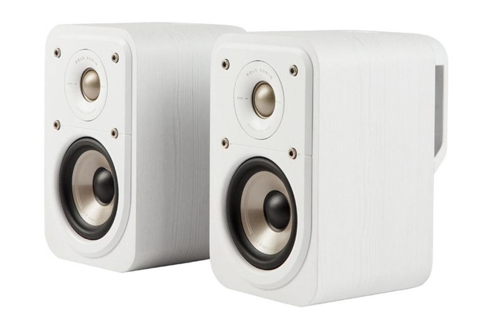 Polk Audio S10e bookshelf speaker - White front