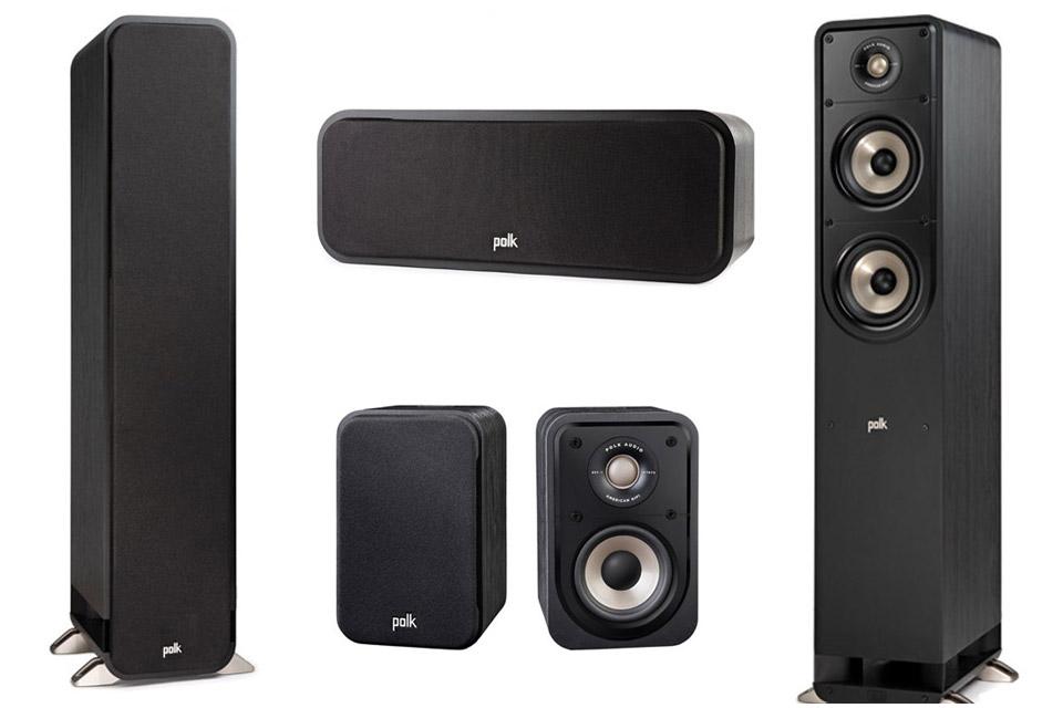 Polk Audio S-series 5.0 surround speaker set - Black