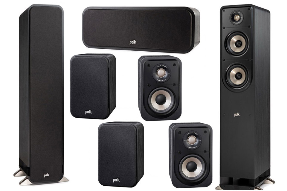 Polk Audio S-series 7.0 surround speaker set - Black