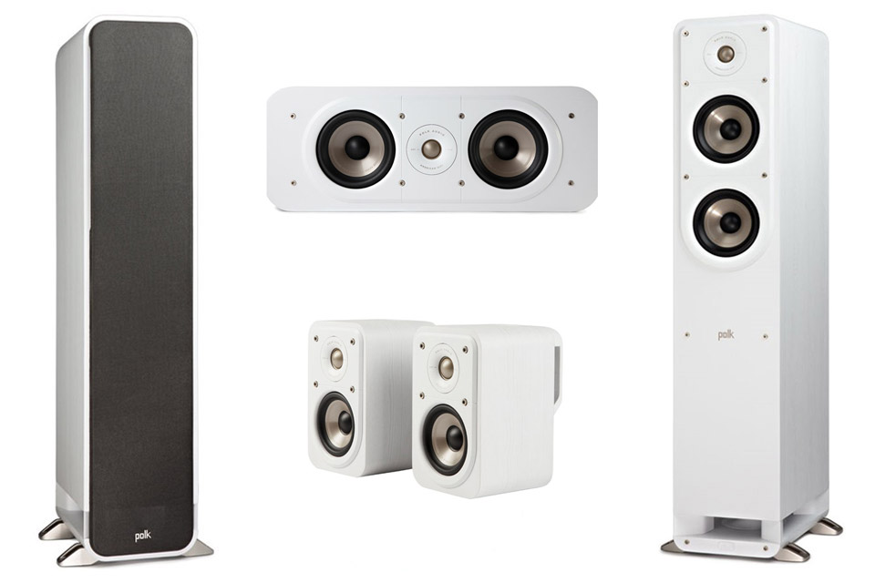 Polk Audio S-series 5.0 surround speaker set - White