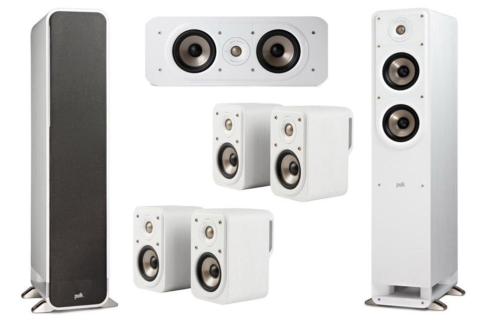 Polk Audio S-series 7.0 surround speaker set - White