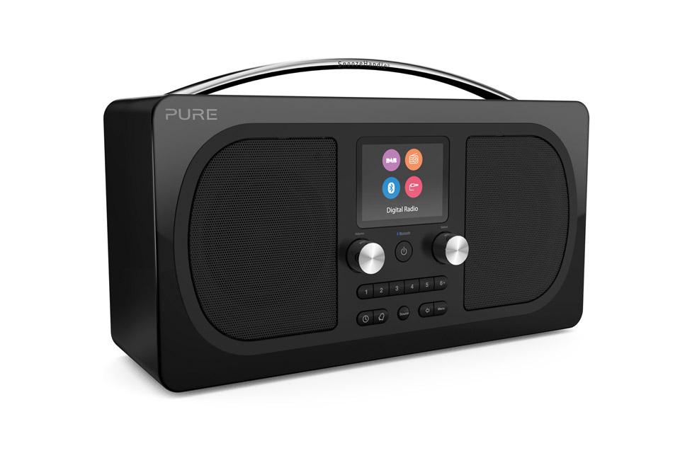 Pure Evoke H6 DAB+ radio, sort