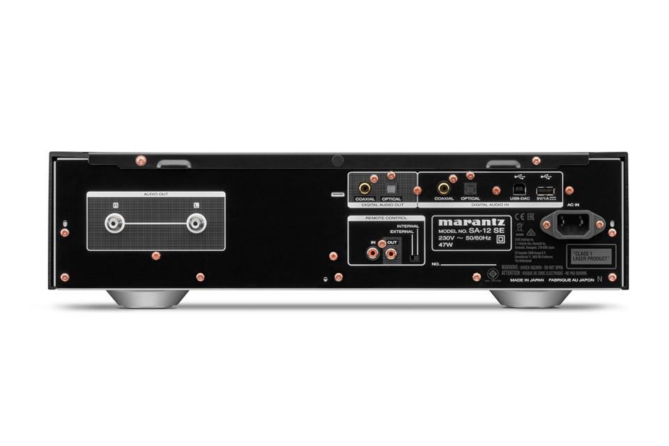 Marantz SA-12SE CD-player, rear