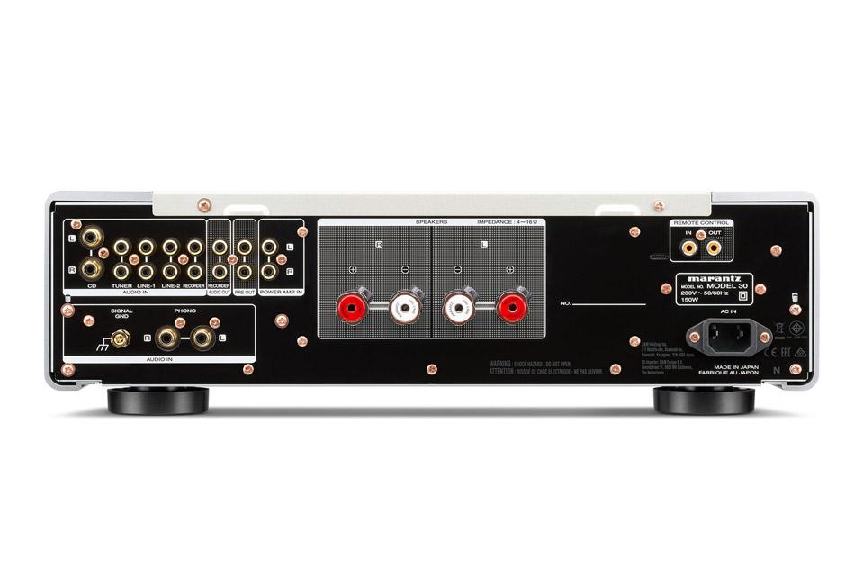 Marantz Model 30 integreret amplifier, rear