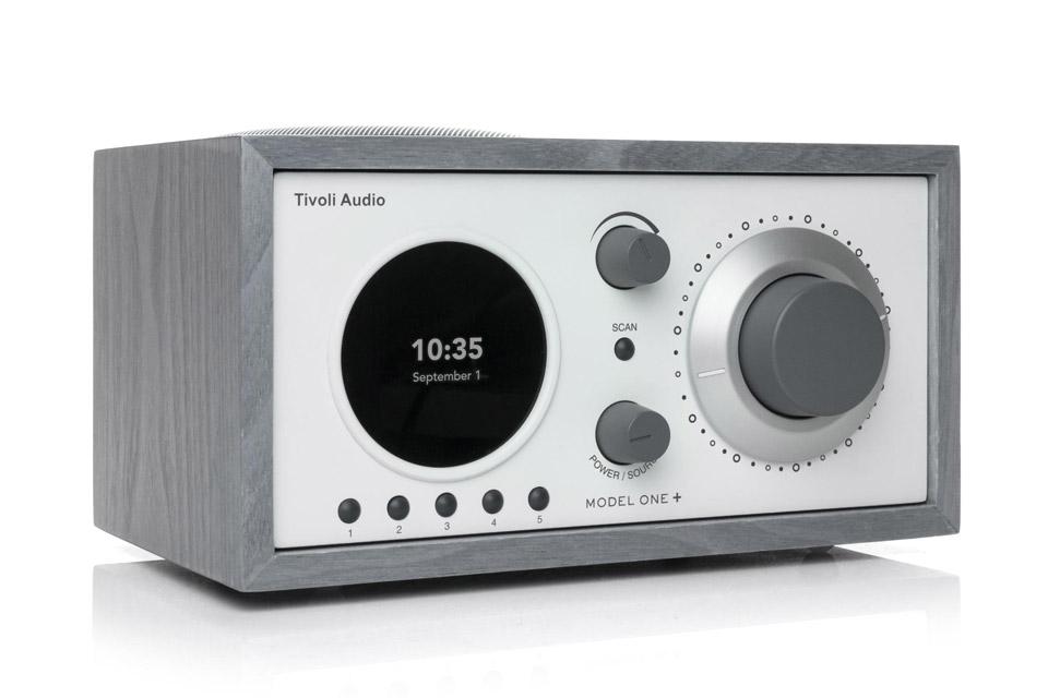 Tivoli Audio Model One+ radio, grey/white