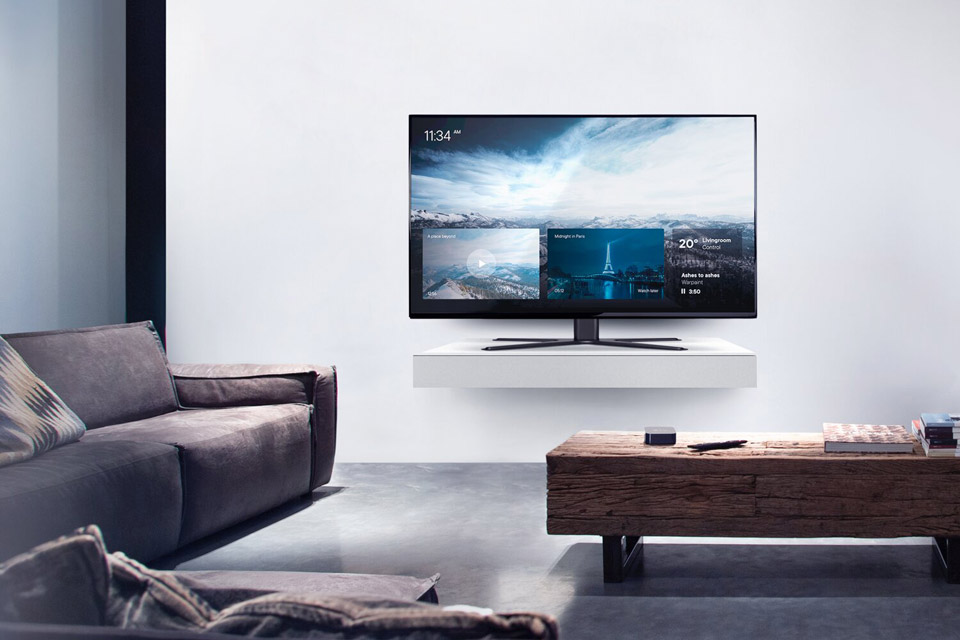 One For All WM 4471 Solid Tabletop TV Stand - Lifestyle