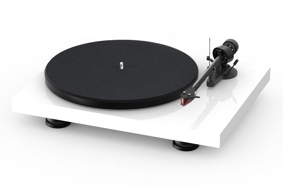 Pro-Ject Debut Carbon EVO recordplayer, high gloss white