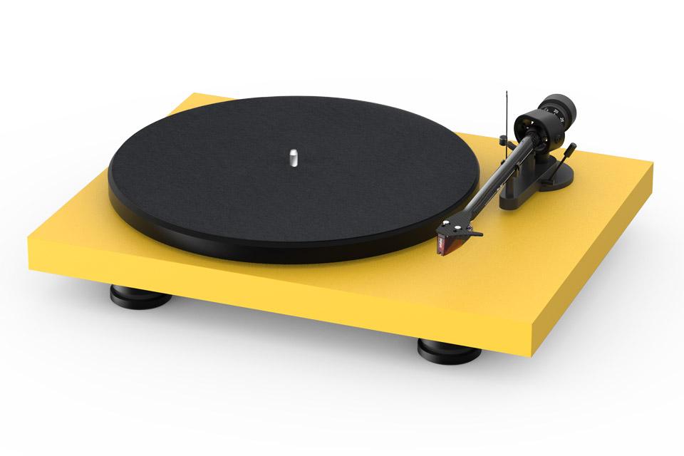 Pro-Ject Debut Carbon EVO recordplayer, satin yellow