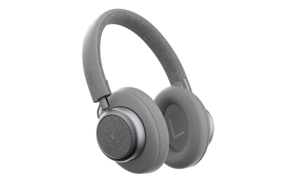 SACKit TOUCHit over-ear headphones, silver