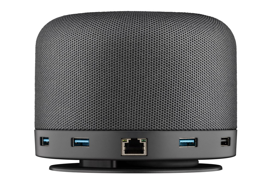 Goobay USB-C multiport dock with a speaker, Qi, and PD -  Side