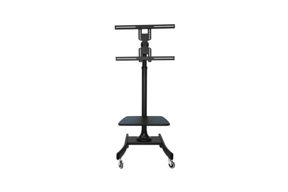Lindy single display lite trolley mount, max 35 kg - With shelf