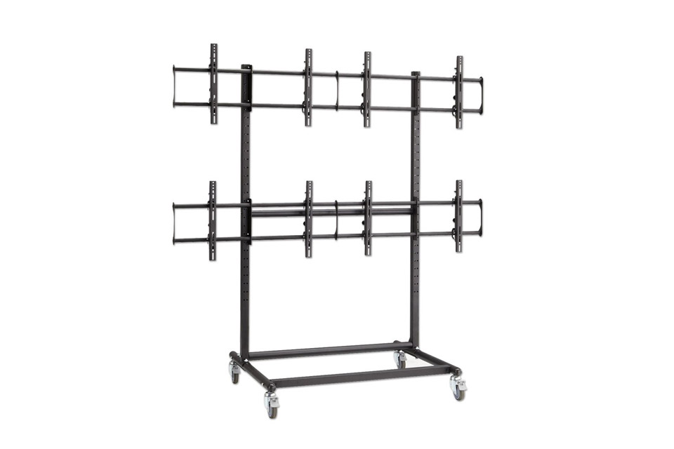 Lindy quad trolley stand for video wall
