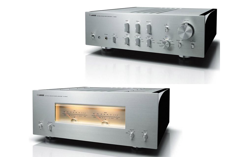 Yamaha C-5000 + M-5000 forforstærker, titan