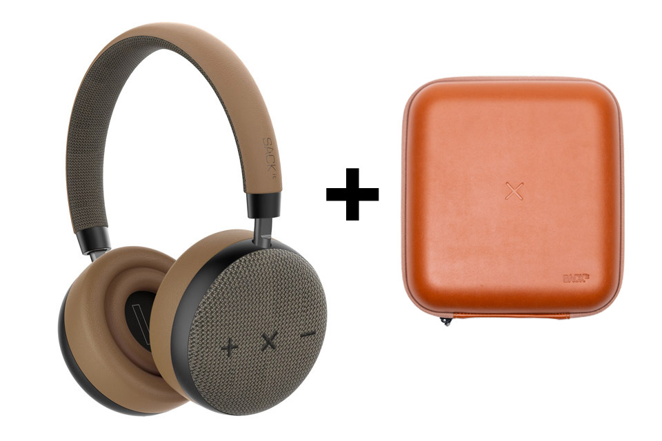 SACKit TOUCHit headphones, golden incl. brown cover