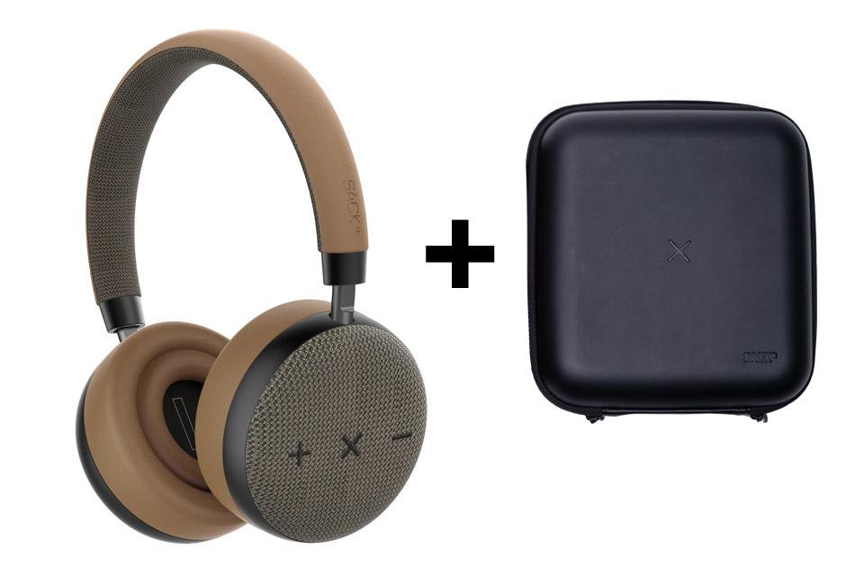 SACKit TOUCHit headphones, golden incl. black cover