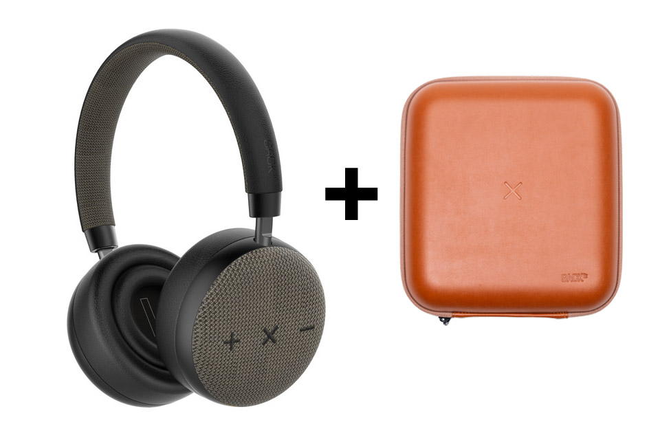 SACKit TOUCHit headphones, black incl. brown cover