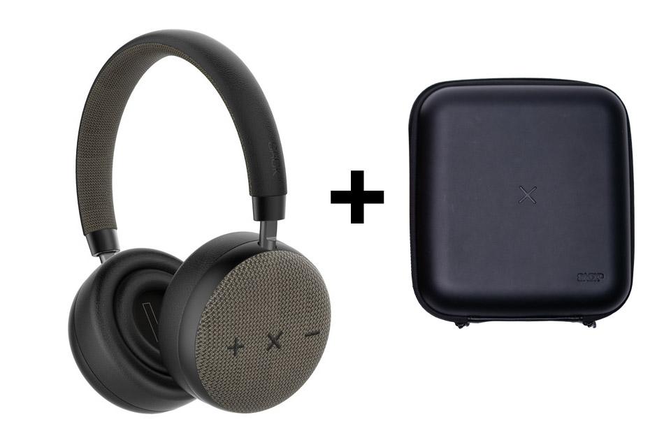SACKit TOUCHit headphones, black incl. black cover