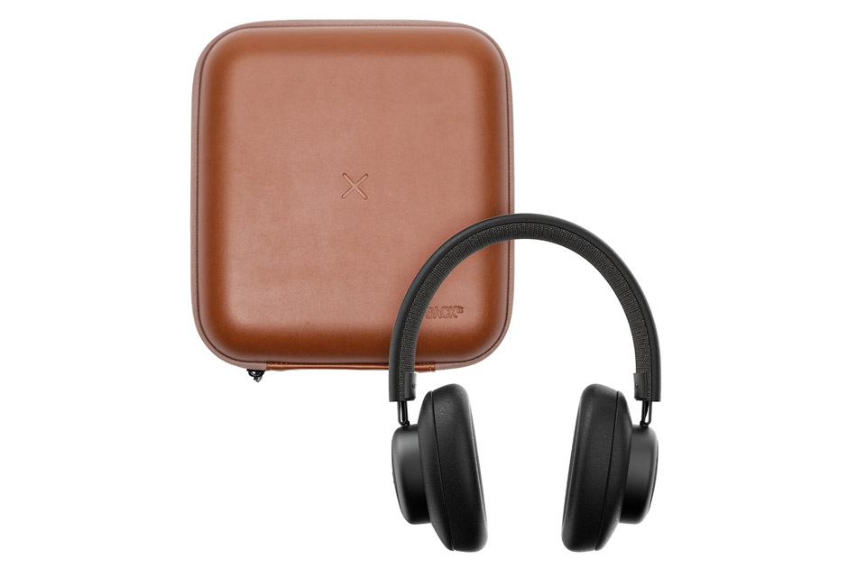 SACKit TOUCHit over-ear headphones, black incl. brown cover