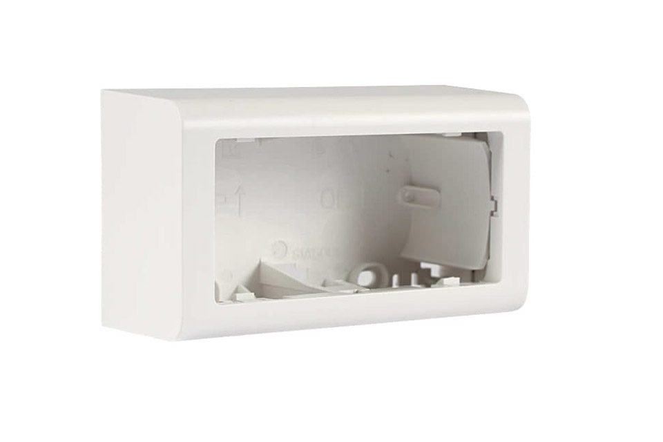LK FUGA® Softline surface box horizontal - 2 module