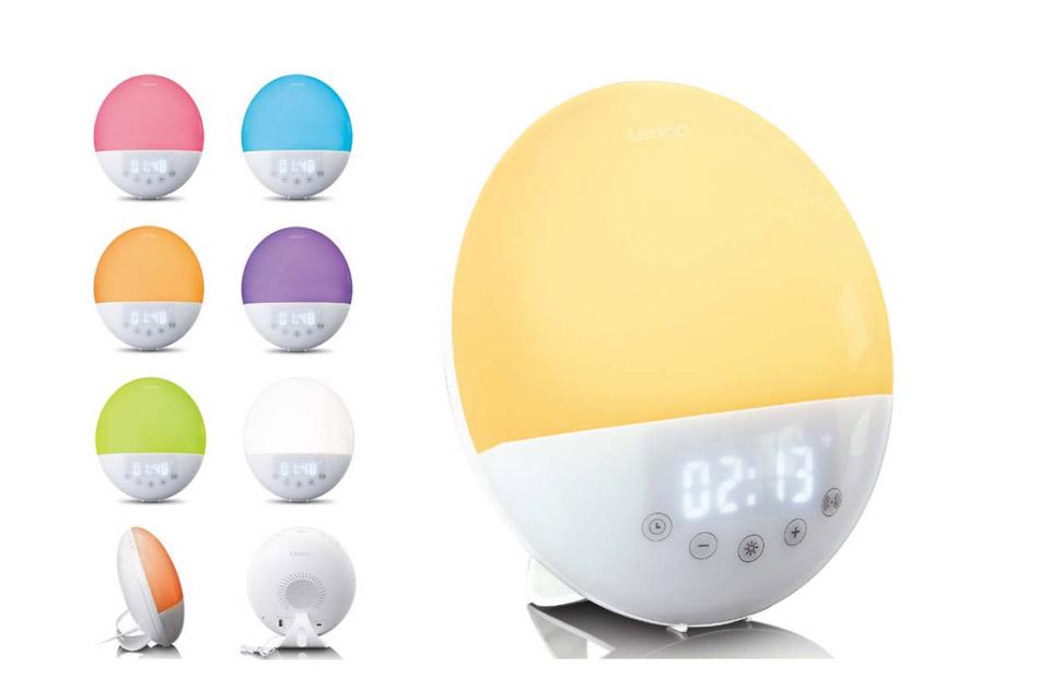 Lenco CRW-110 FM clock radio with color wake up light