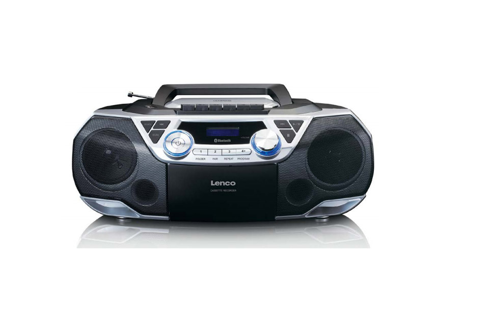 Lenco SCD-120 Ghettoblaster with Bluetooth and FM