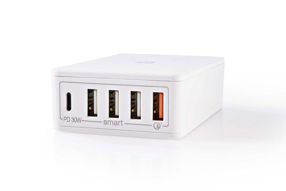 Nedis Nedis 4-way USB-C/USB-A charger (3A/30W) - White