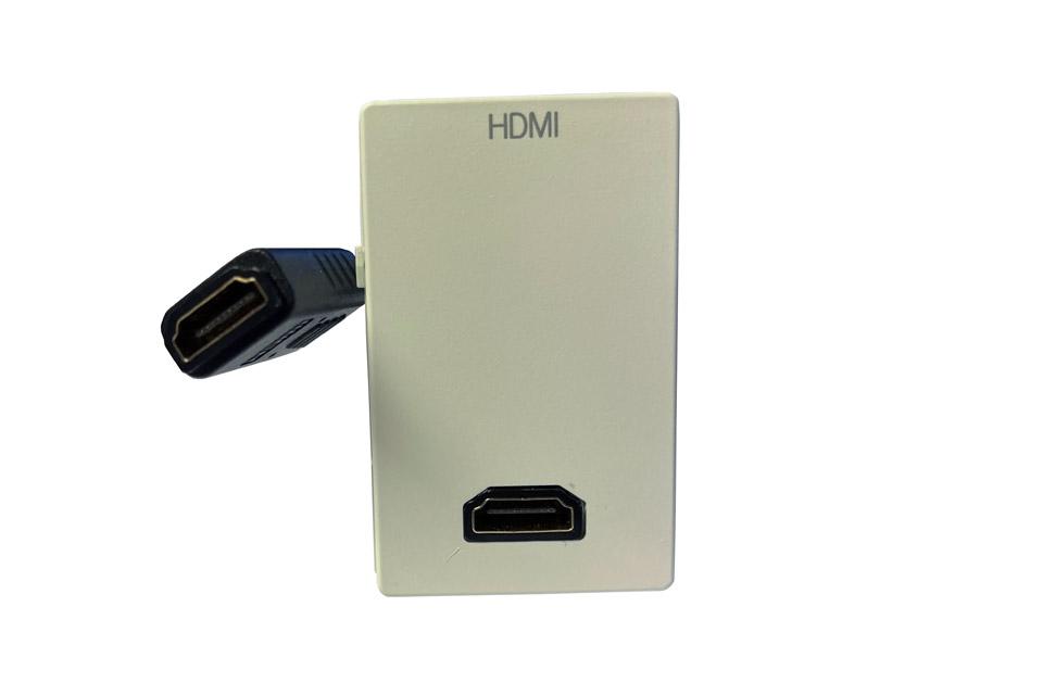 HDMI 2.0 wall plate, FUGA 1½ module