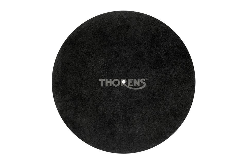 Thorens platter mat in leather, black