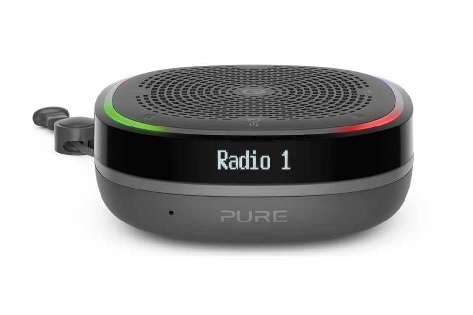 Pure StreamR Splash radio, black
