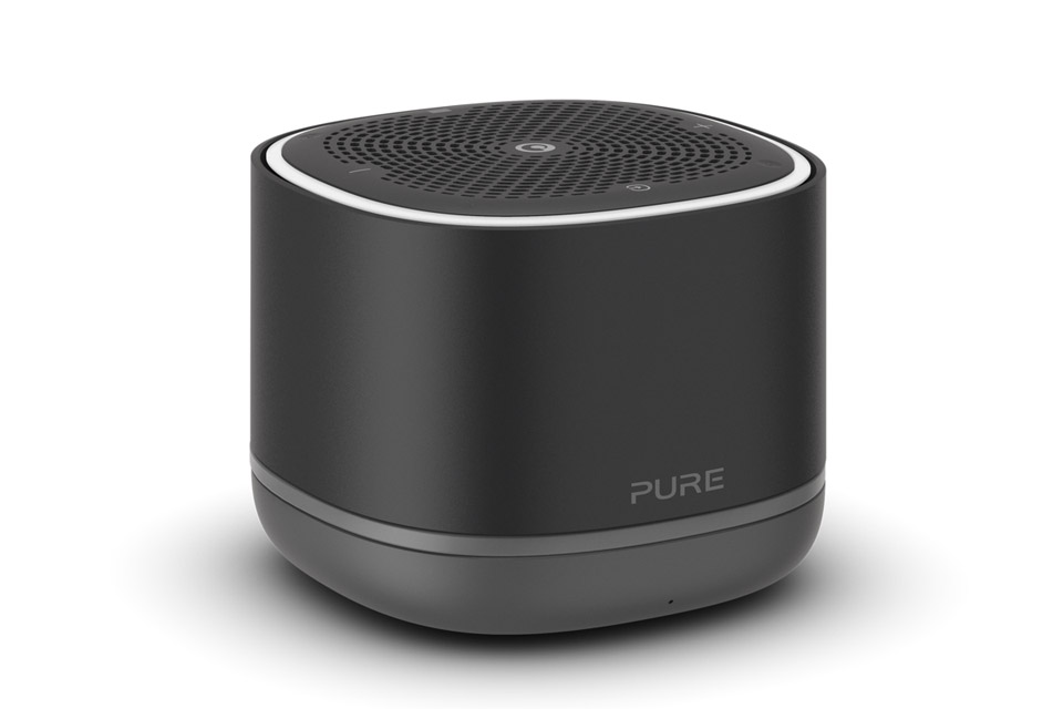 Pure StreamR radio with bluetooth, black